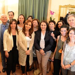 La Presidenta de la Nación recibe en Roma a una delegación de la RCAI