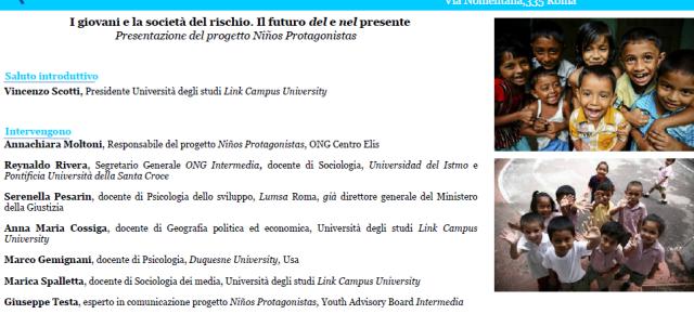 «Juventud, futuro y derechos humanos». El 16 de diciembre en la Link Campus University de Roma