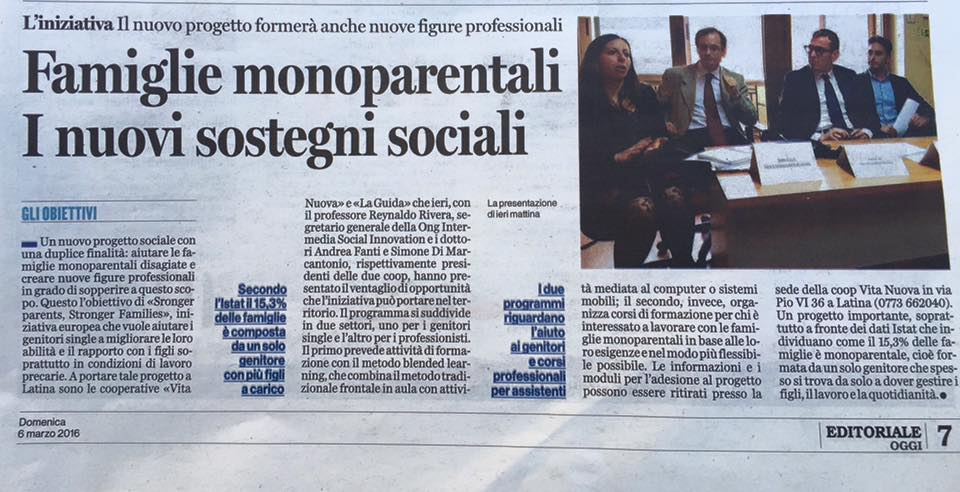 160305 Latina Oggi giornale