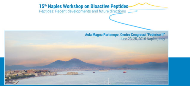 La doctora Mariana Gallo participó al «15th International Workshop on Bioactive Peptides» en Nápoles