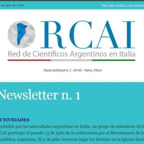 ¡La RCAI ya tiene su Newsletter!