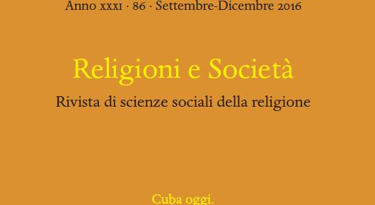 Publicado el volumen de «Religioni e Società» Cuba hoy después de la visita de Papa Francisco y las nuevas relaciones con los Estados Unidos