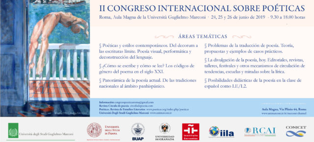 II CONGRESO INTERNACIONAL SOBRE POÉTICAS - Roma, junio 2019