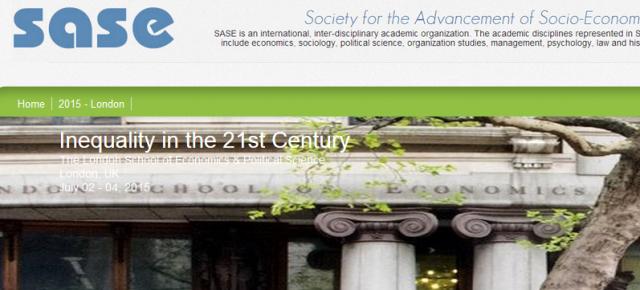 Reynaldo Rivera participará en Londres a la conferencia anual de la «Society for the Advancement of Socio – Economics»