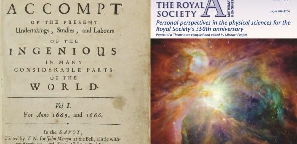 El doctor Diego L. González entre los editores del número especial de la revista «Philosophical Transactions of the Royal Society. Series A».
