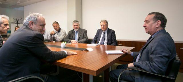 El ministro Lino Barañao recibió a una comitiva italiana en Buenos Aires
