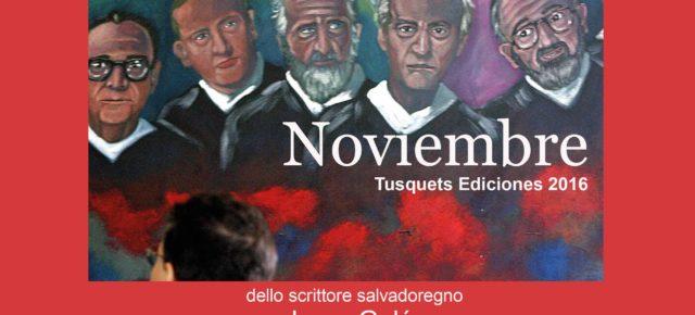 """Mañana en el Instituto Italo-Latinoamericano la presentación de """"Noviembre"""" de Jorge Galán."""