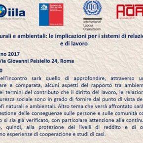 """Encuentro en el IILA: """"Desastres naturales y ambientales: implicaciones para sistemas de relaciones industril"""
