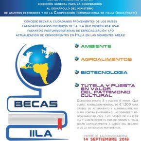 Becas IILA - DGCS/MAECI  2018-2019