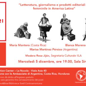 """17. Edición de la Feria Nacional """"Più libri più liberi"""": Literatura, periodismo y proyectos editoriales en femenino en América Latina"""