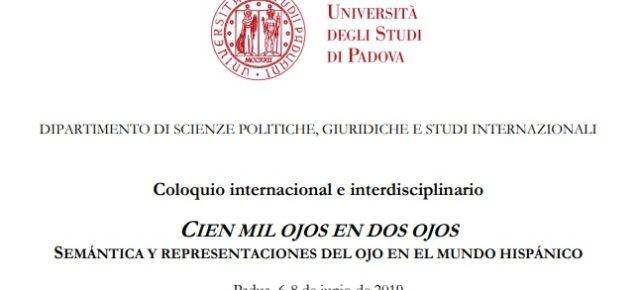 Coloquio internacional e interdisciplinario CIEN MIL OJOS EN DOS OJOS