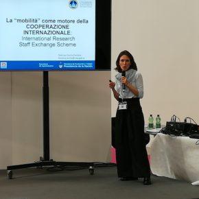 Cecilia Fontana, miembro de la RCAI, en la EXCO2019